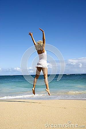 Jumping woman.