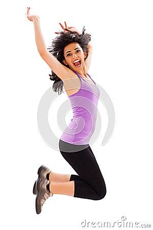 Jumping Woman
