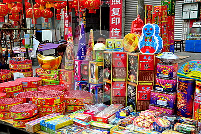 Jun Le, China: New Year Fireworks Editorial Photo