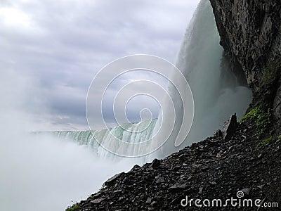 JUnderside de las caídas de herradura Foto editorial