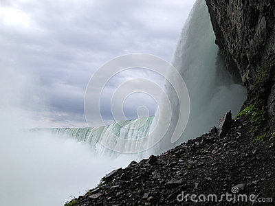 Underside of Horseshoe Falls Editorial Photo