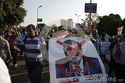 30 June Protests Against Morsi & Muslim Brotherhood Editorial Photography