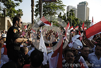 30 June Protests Against Morsi & Muslim Brotherhood Editorial Stock Image