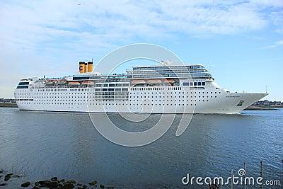 June 13rd, 2014. IJmuiden: Costa Neo Romantica on North Sea Cana Editorial Photography