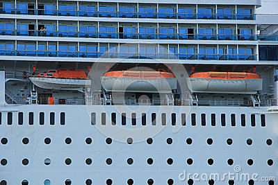 June 13rd, 2014. Velsen: Costa Neo Romantica detail of ship Editorial Stock Photo