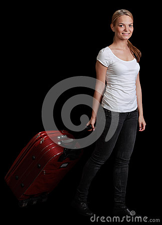 Junge Frauen-Reisender