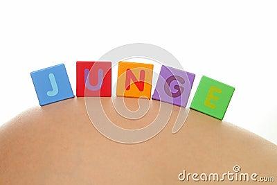 JUNGE (German for boy)
