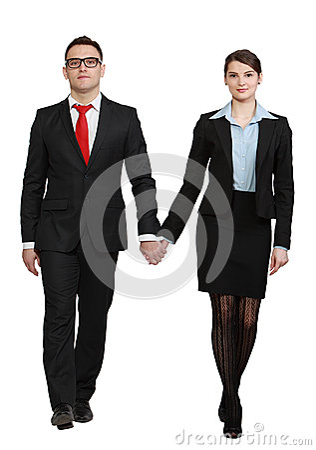 Junge Geschäfts-Paare