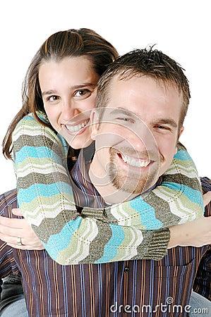 Junge glückliche Paare