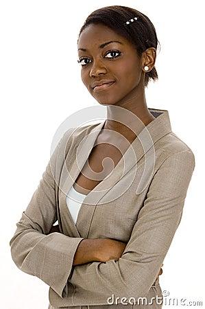 Junge schwarze Frau