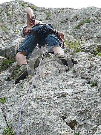 Junger Bergsteiger