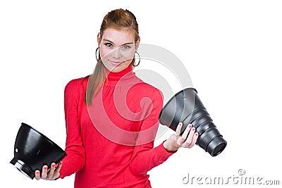 Junger Fotoassistent