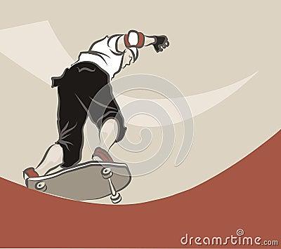 Junger Mann Skateboarding