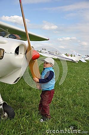 Junger Pilot