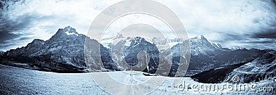 Jungfrau Mountain Range B&W