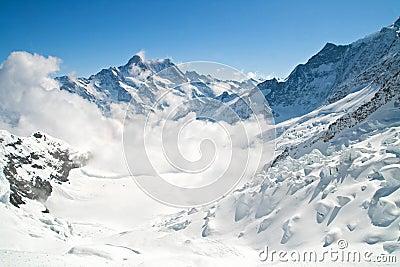Jungfrau Mountain Range in Switzerland