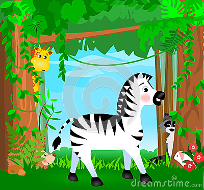 Jungle Animal Scene