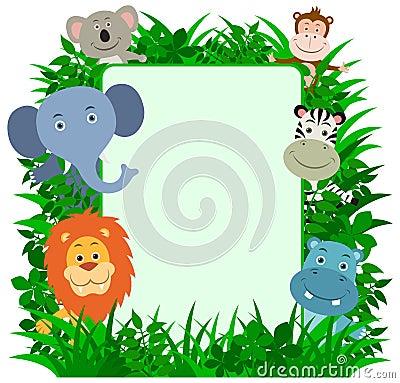 Jungle Animals Frame