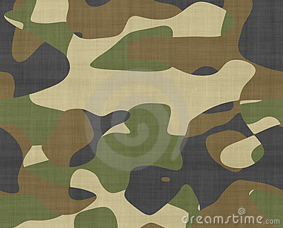 Jungle camouflage fabric