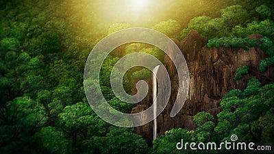 Jungle Canopy Digital Painting
