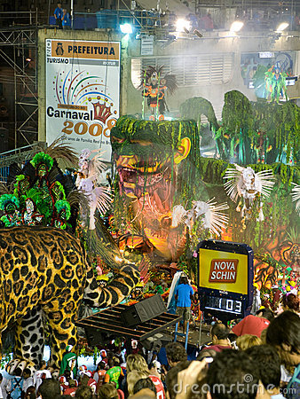 Jungle Float, Rio Carnival. Editorial Stock Photo