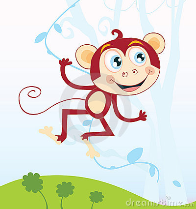 Free Jungle Monkey Royalty Free Stock Photography - 9531677