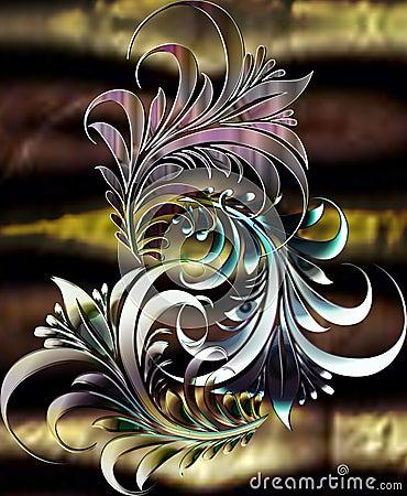 Jungle motif_black pearl
