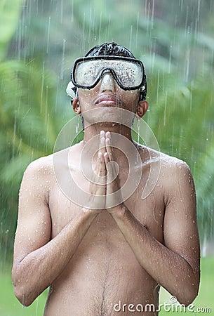 Free Jungle Rain Prayer Stock Photography - 16967042