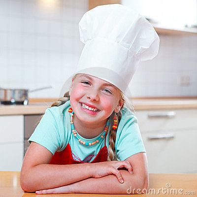 Junior cook smiling