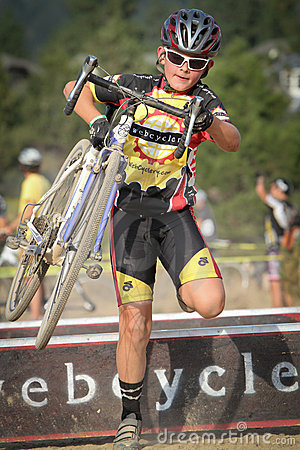 Junior Cyclocross Racer Editorial Image