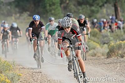 Junior Cyclocross Racers Editorial Photo