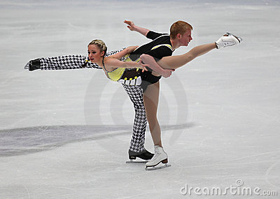Junior Pairs-Free Skating event Editorial Photo