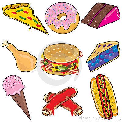 Junk Food Clipart elements and icons