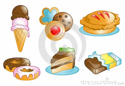 Junk food and dessert icons