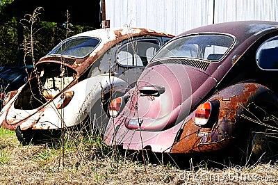 Junk Volkswagen Beetle Cars Stock Photos Image 18988253