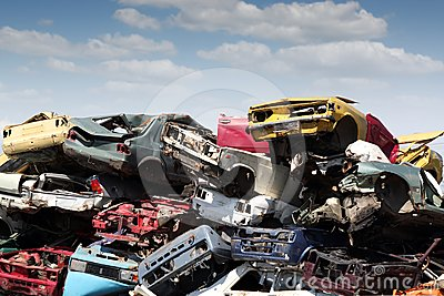 Junk yard with