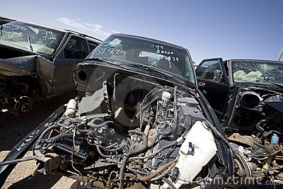 Junked cars for recycling