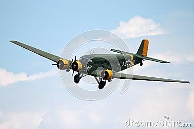 Junkers JU 52 - at La Comina 100 anniversary Editorial Photo