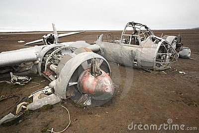 Junkers JU-88 airplane wreck, World War II