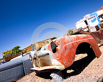 Junkyard Beatty Nevada Editorial Image