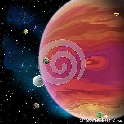 Free Jupiter Planet Royalty Free Stock Images - 66952339