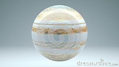 Jupiter Rotating Seamless Looping Isolated 4K met Luma-Steen stock illustratie