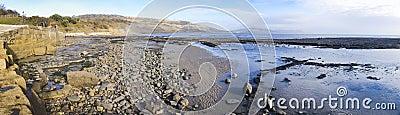 Jurassic coast panorama lyme regis dorset uk