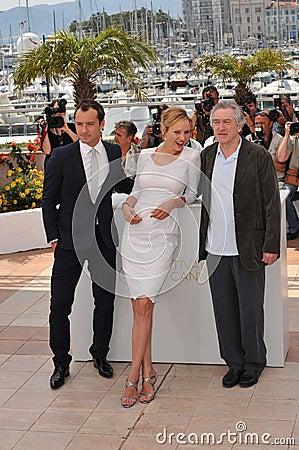 The Jury,Jude Law,Robert De Niro,Uma Thurman Editorial Image