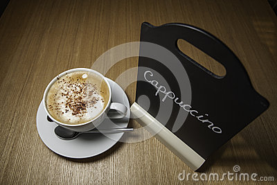 Just Cappuccino on the Menu!
