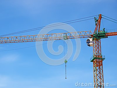 Just crane and blue sky