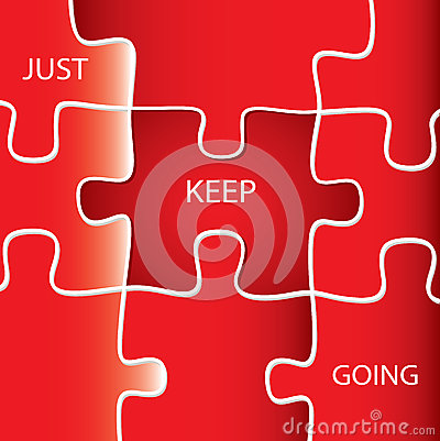 just keep going motivational quotes stock photo image
