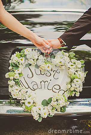 Free Just Married Royalty Free Stock Image - 56910656