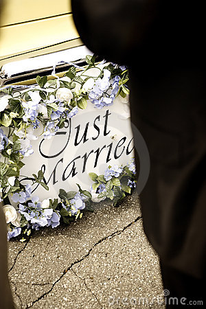 Just married bumper