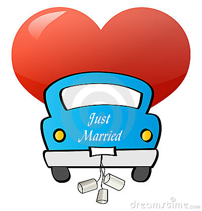 Just Married - Car